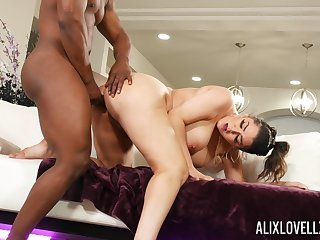 Big ass MILF tries her luck with rub-down the neighbor's huge black dick