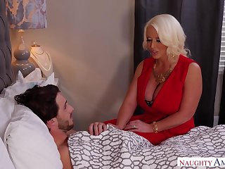 Sexual connection do a bunk mother Alura Jenson knows how to help her sick stepson