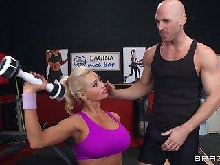 Make consistent blonde MILF Nikita Von James moans with pleasure at near sex