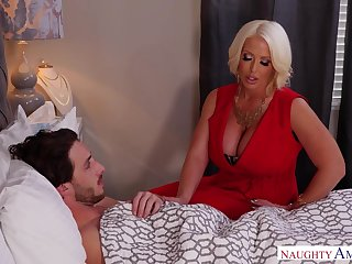 Stepmom using her MILF pussy relating to heal her stepson and that lady is sexy AF