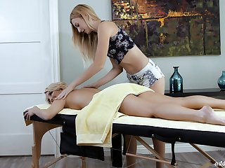 A hot MILF experiences an orgasmic massage and that sultry skirt is so sweet