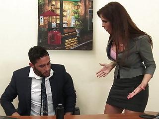 Sexy milf big cheese Syren De Mer exploits staff member for dick hd