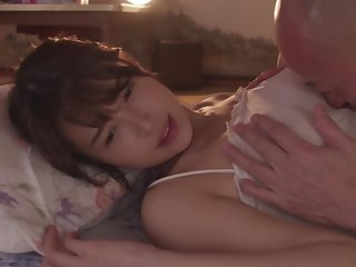 Tsukasa Aoi - Se-Coming Everywhere The Tongue Be fitting of Her Father-In-Law