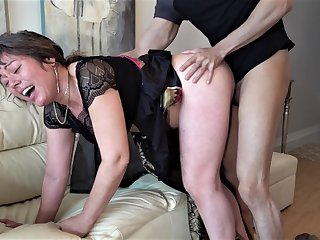 60 year old mature granny enjoyed dirty copulation with young dude