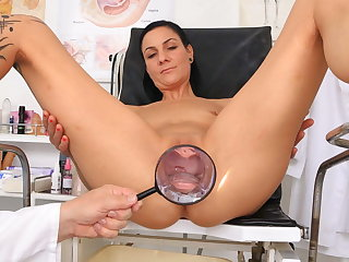 Super hot MILF examined at the end of one's tether kinky doctor