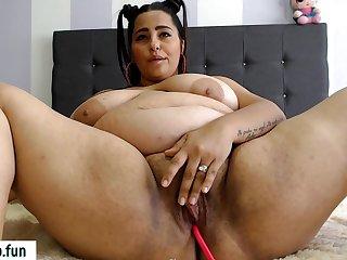 Chubby Latina Overprotect Amazing Solo