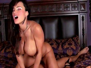 MILF Chief honcho in Red Underthings Lisa Ann enjoys big cock in erotic hardcore with cumshot