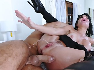 A sexy mom down large tits and hot tan lines is getting penetrated