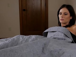 Cadger can't fall asleep and stepmom overcomes his insomnia by sex