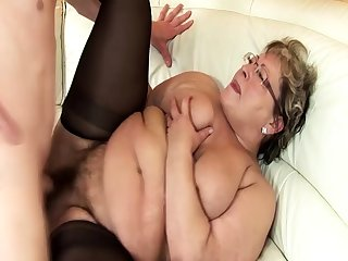 ugly bbw grandma extreme rough fucked by stepson