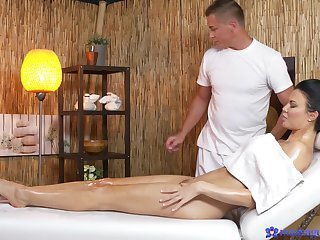The man pornstar massage and fucked in the cards explore by a large dick dude