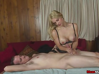 Lucky mendicant gets his dick pleasured by naughty a kermis slut