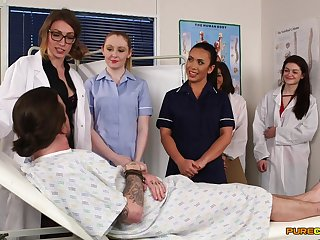 Fidgety nurses in the hospital ready be required of a several time cFNM orgy