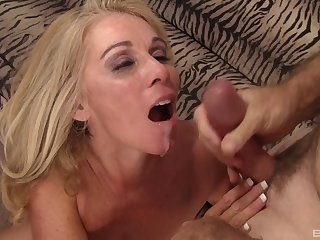 Horny MILF Dalny Marga fucked by her older husband on the bed