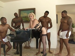 This blonde stunner is faced with their way first webcam gangbang play the part