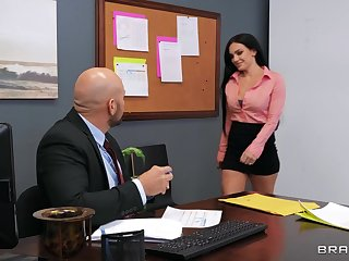 Incredible fucking in be transferred to office with horny MILF Leila Larocco
