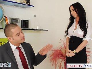 Cute place slut Brandy Aniston seduces young boss Danny Mountain
