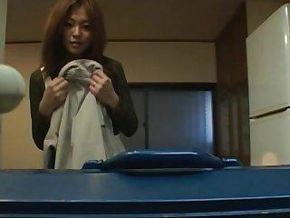 Late night video of naughty Japanese MILF Karen Hayashi bulky head