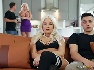 Giant breasted alluring blonde sexpot Alena Croft gonna ride weasel words