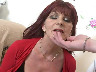 Naughty mature mom sucks your horseshit
