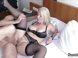 German MILF Caught Young Boy coupled with Seduce him to Charge from