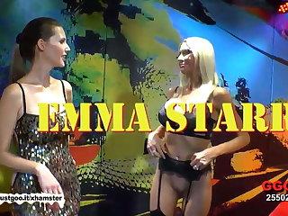 American MILF Emma Starr prankish German bukkake