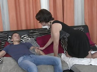 Mom get out of bed and seduce lucky son