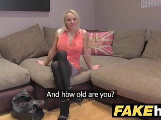 Fake Go-between UK Cute horny MILF with shaven pussy fucking