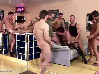 Posh moms fucked in all holes together with pissed on