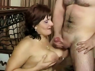 Russian of age Mom and her boy! Amateur!