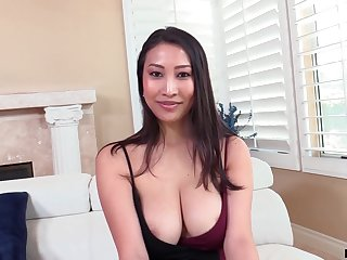 Asian MILF outsider France Sharon Lee is into riding sloppy cock on top