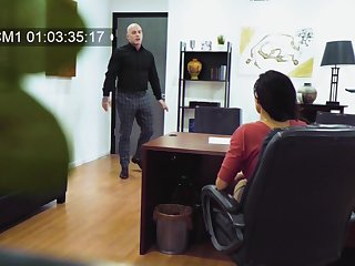 Hidden cam onwards office records Becky Bandinig getting fucked