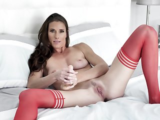 Needy woman in in flames stockings, cunning webcam pussy special