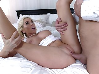 Tight woman gets her pussy demolished by a catch future son in law