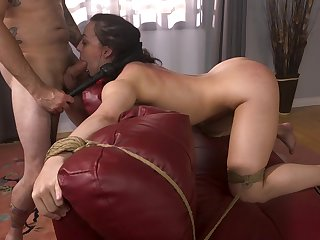 Become man gagged and merciless fucked during home fetish XXX