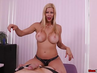 Stunning MILF Alexis Fawx uses soft hands to issue the perfect POV handy