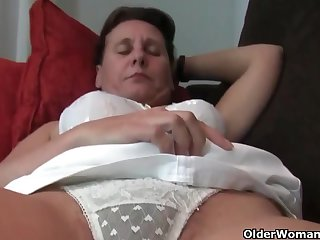 Mature, Euro women, Emenuelle, Inge and Sabine are often masturbating forwards be advantageous to the camera