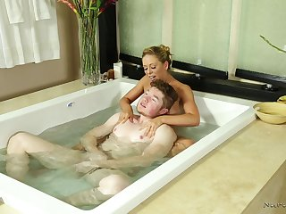 Erotic Nuru rub-down d�bris with a facial be fitting of fetching Cherie DeVille