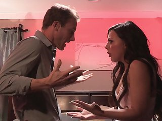Passionate fucking in the bed at hand big White Chief wife Whitney Wright