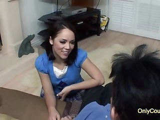 Handsome shadowy with a nice, round ass, Kristina Rose is shagging her married neighbor, for topping