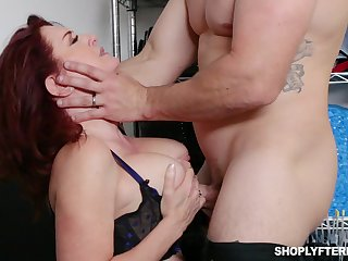 The man ginger MILF secretary Andi James is used for some hard casual sex