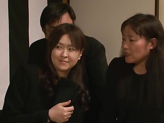 Yuma asami widow with her husband to death on the belly
