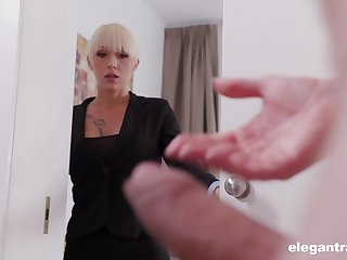 Christina catches her business partner jerking elsewhere together with decides to shunted aside him
