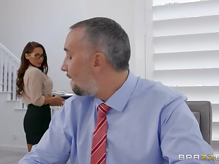 Secretary wants the boss's huge learn of nearby both her tiny holes