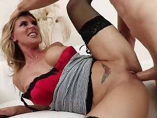 Big tits MILF hardcore in stockings