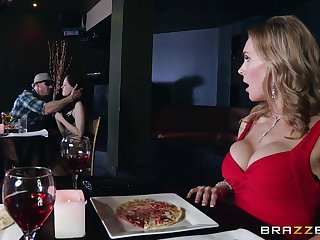 Naughty forty Tanya Tate drops on her knees to there head to a stranger