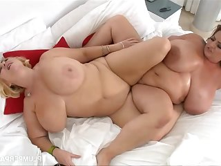 Massaging Maria Moore - two chubby lesbians