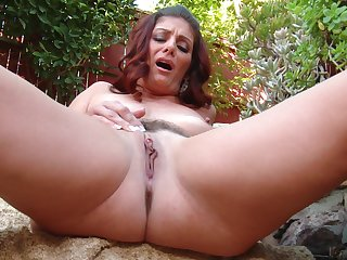 Outdoors solo video be fitting of sexy redhead Alicia Silver having vicious fun