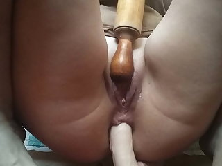 Hot milf fucked herself up a rolling reimbursement coupled with a heavy dick